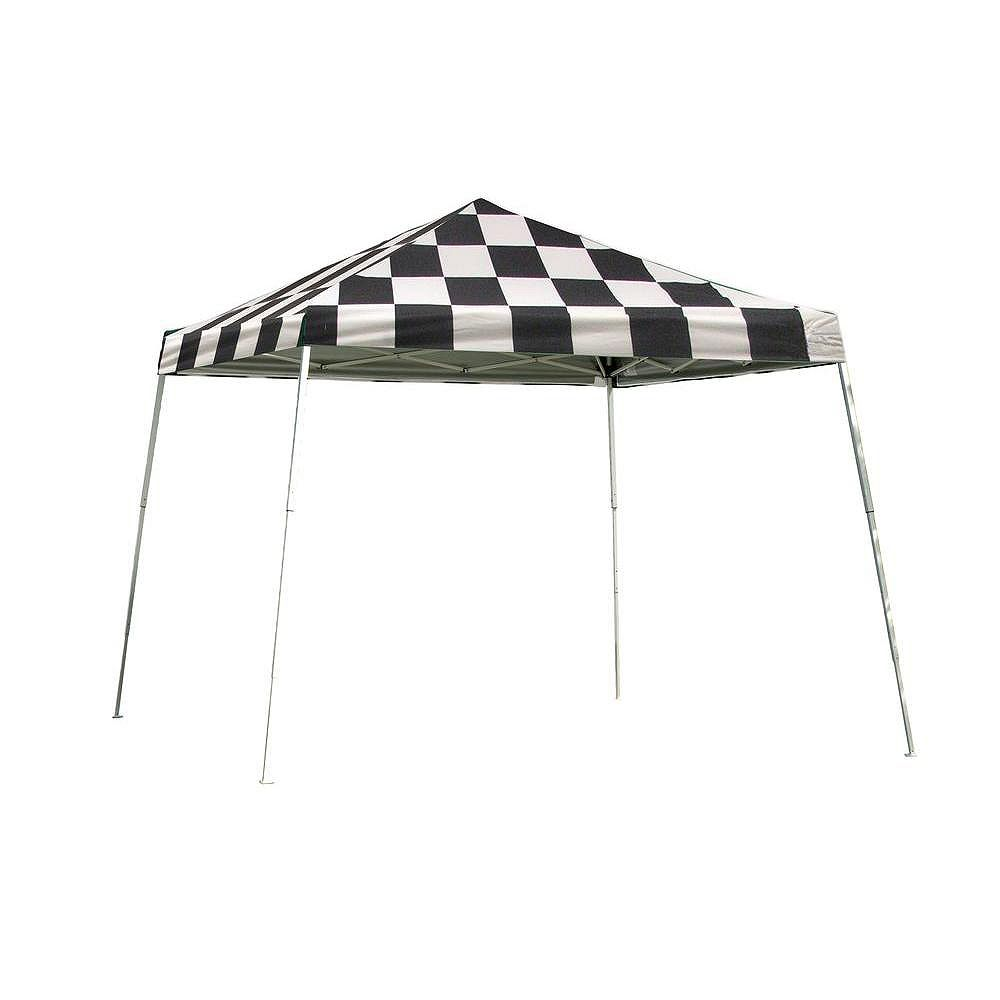 ShelterLogic Sport 12 ft. x 12 ft. Pop-Up Canopy Slant Leg, Checkered Flag Cover with Storage Bag