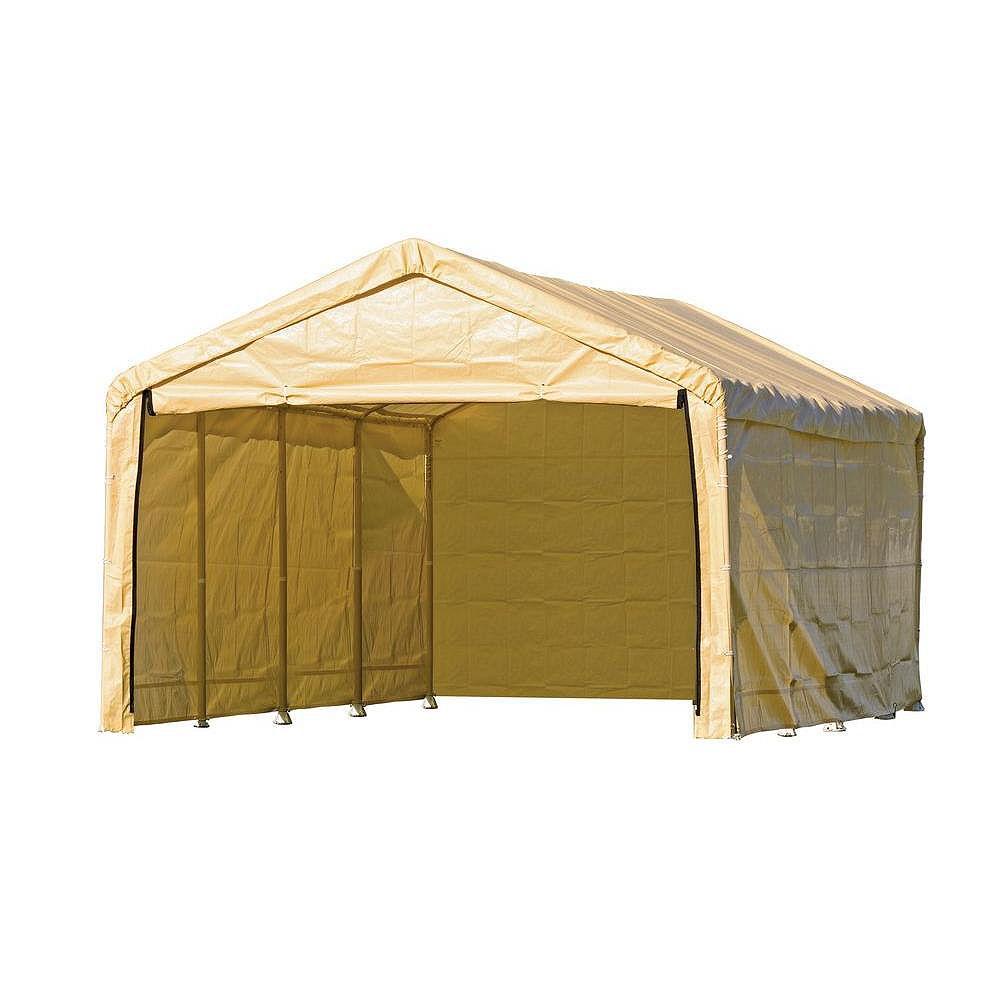 ShelterLogic Super Max 12 x 26 Tan Canopy Enclosure Kit Fits 2 Inch Frame
