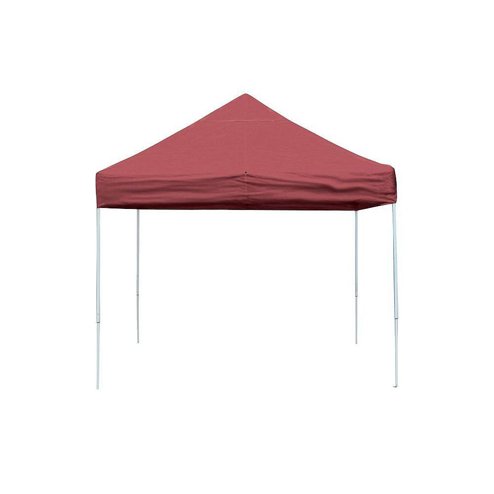 ShelterLogic Pro 10 ft. x 10 ft. Red Straight Leg Pop-Up Canopy