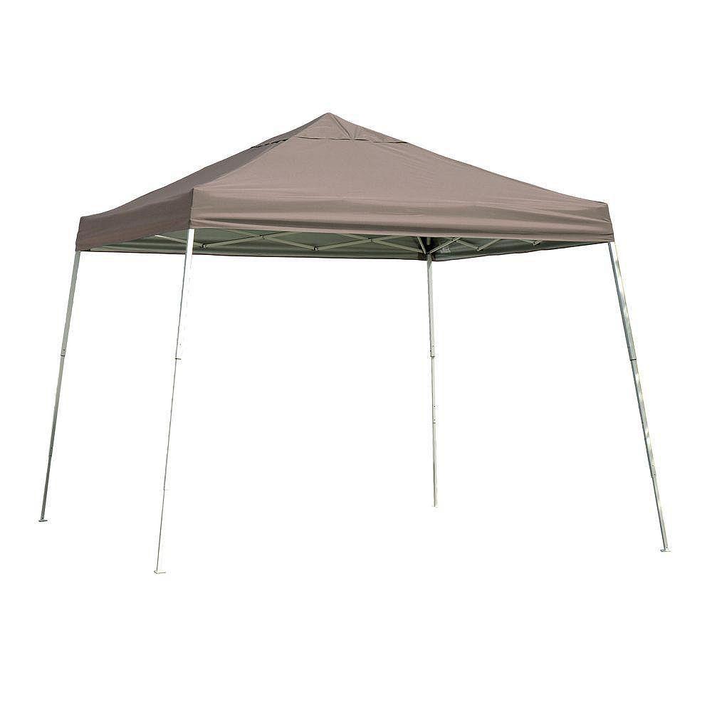 ShelterLogic Sport 12 ft. x 12 ft. Pop-Up Canopy Slant Leg, Desert Bronze Cover with Storage Bag