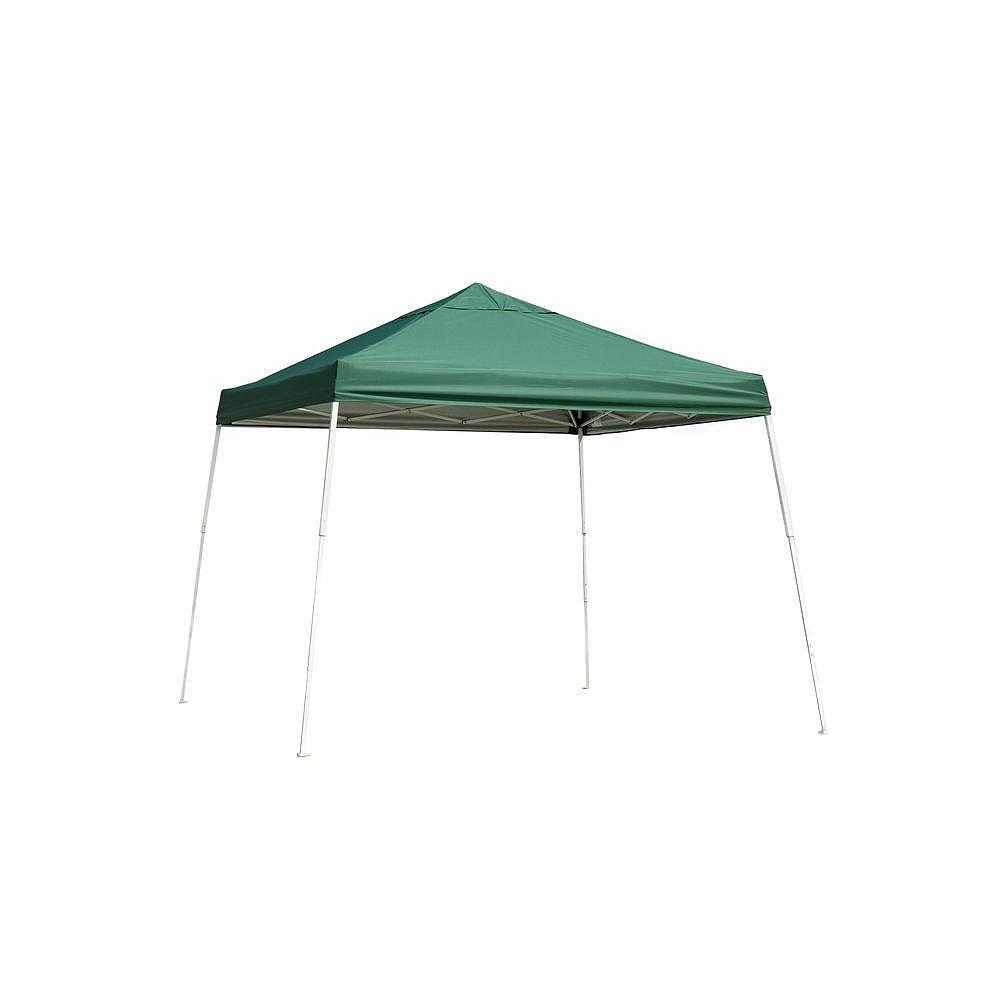 ShelterLogic Auvent escamotable à montants inclinés, série Sport,  vert, 12 x 12 pi