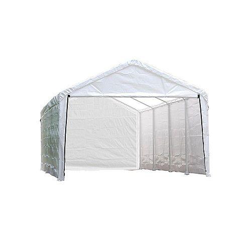 Super Max 12 ft. x 26 ft. White Canopy Enclosure Kit
