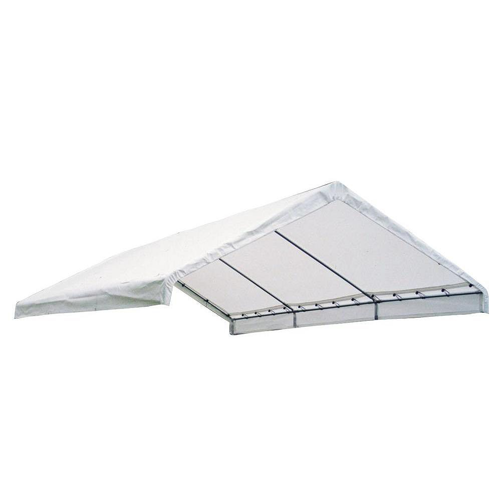 ShelterLogic Super Max 18 ft. x 20 ft. Premium Canopy Replacement Cover in White