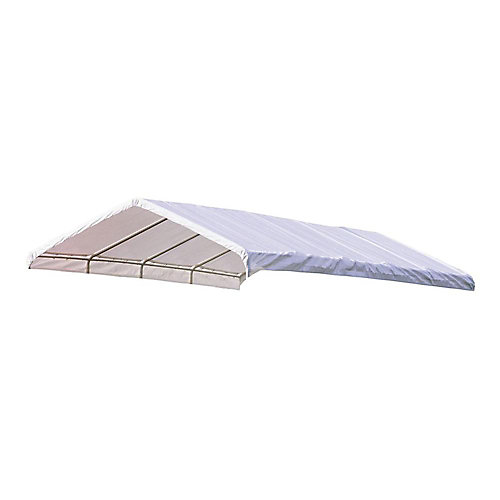 Super Max 12 ft. x 30 ft. White Premium Canopy Replacement Cover