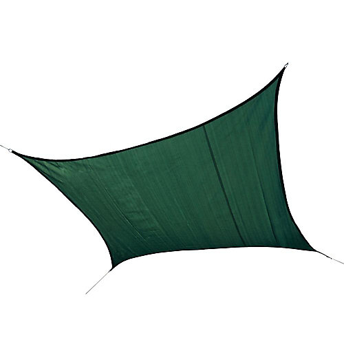 16 ft. Square Sun Shade Sail in Evergreen