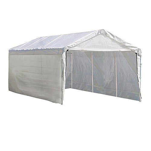 Super Max 12 ft. x 20 ft. White Canopy -  Enclosure Kit Only