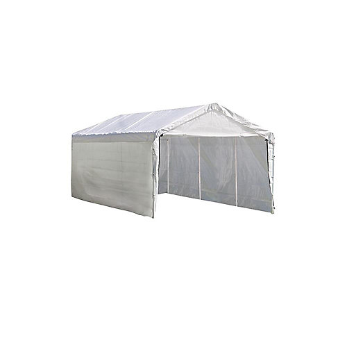 Max AP 10 ft. x 20 ft. White Canopy Enclosure Kit