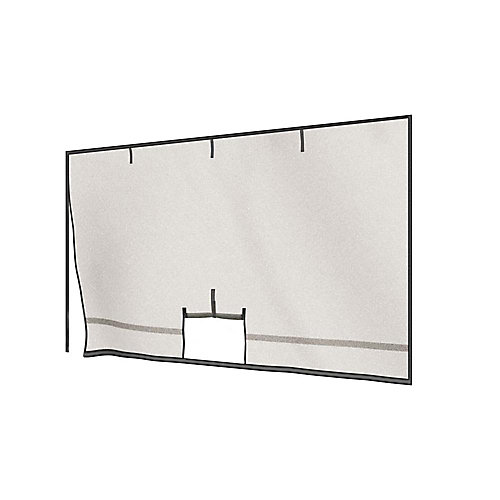 Garage Screen with Roll-Up Pipe - 16 Feet x 7 Feet