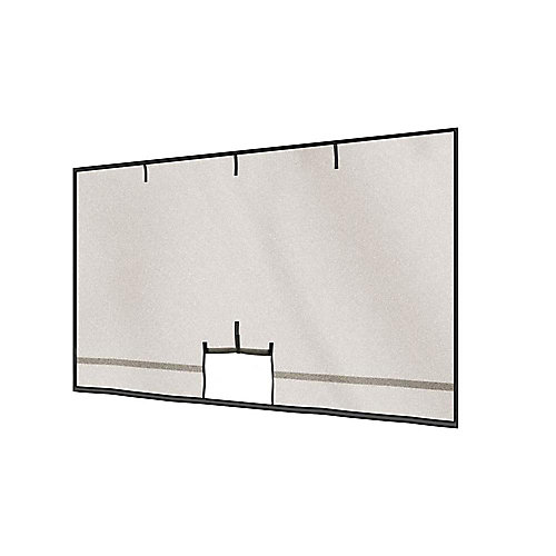 Garage Screen with Roll-Up Pipe - 16 Feet x 8 Feet