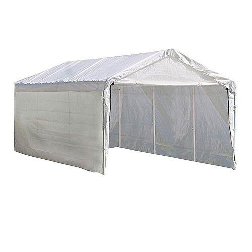 Super Max 10 ft. x 20 ft. White Canopy Enclosure Kit