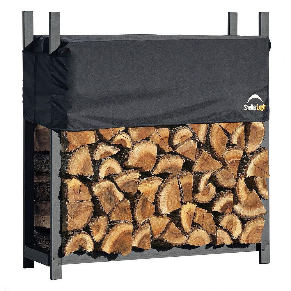 ShelterLogic Firewood Rack-in-a-Box de service très intensif avec housse, 4 pi