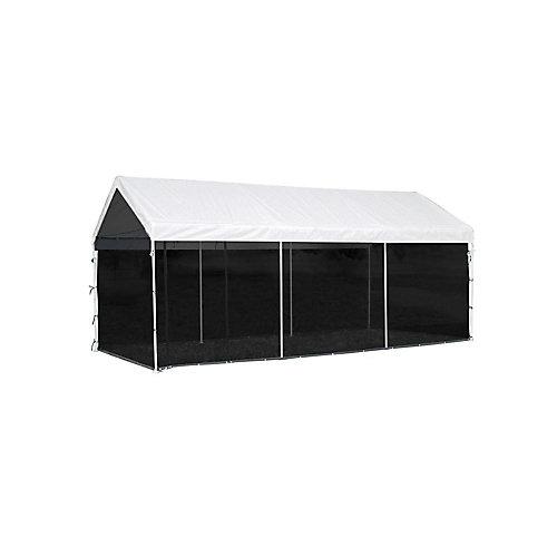 Armature & couvert principale pas inclus. Auvent 2 en 1 Max AP, 10 x 20 pi, toile blanche, nécessaire de moustiquaire