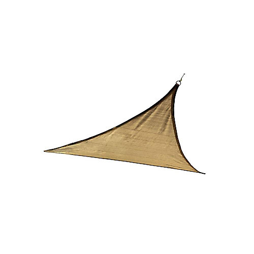 16 ft. Triangle Sun Shade Sail in Sand