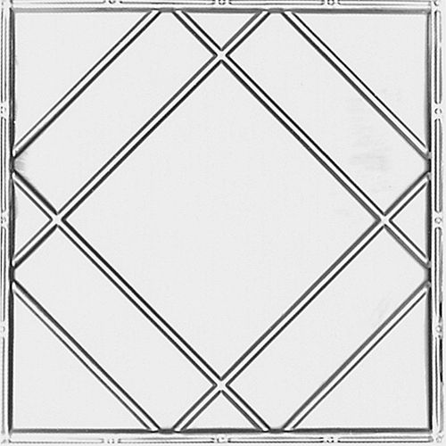 2 Feet x 4 Feet Lacquer Steel Finish   Nail-Up Ceiling Tile Design Repeat Every 24 Inches