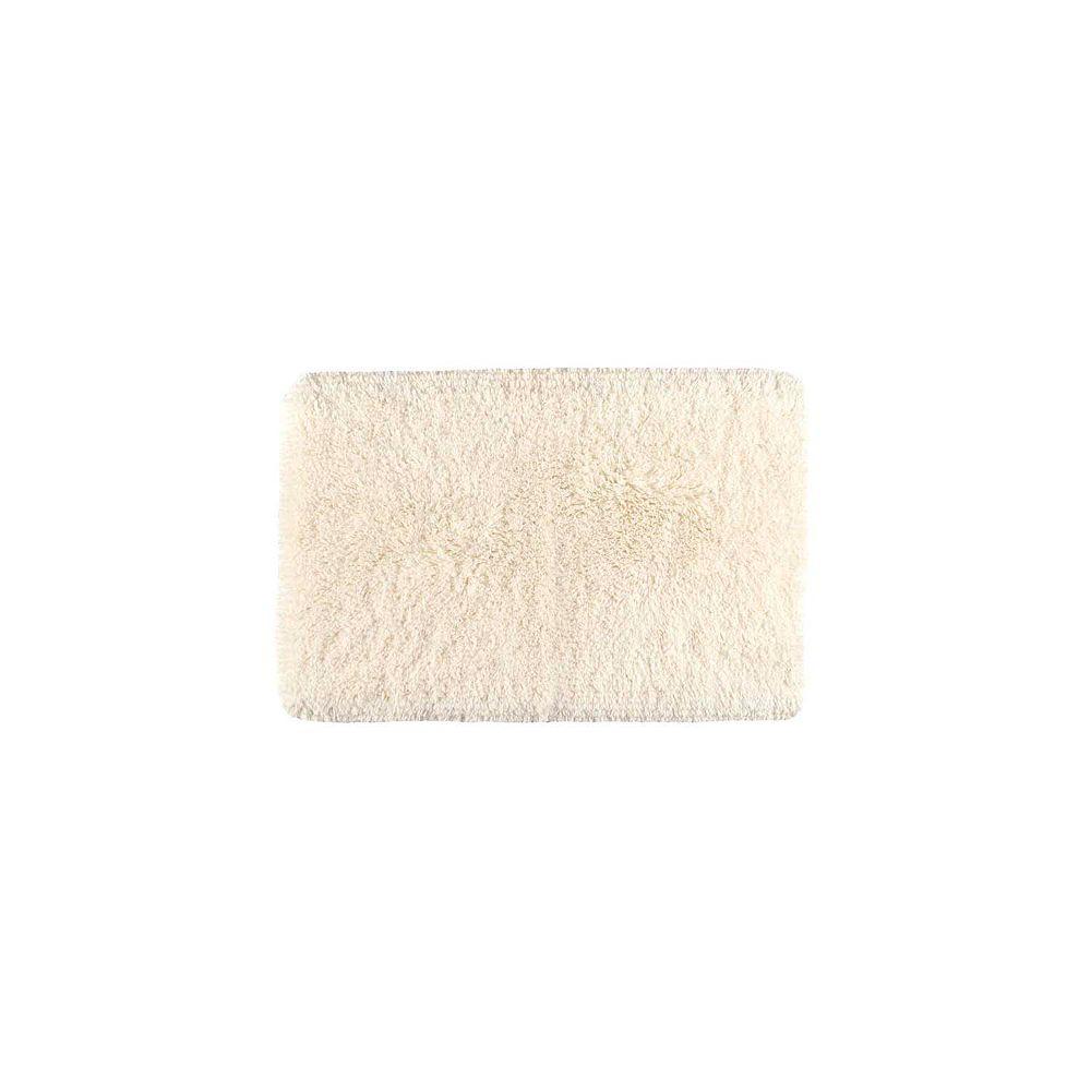 Shaw Living Sassy Shag Parchment 24 Inch x 40 Inch Bath Rug