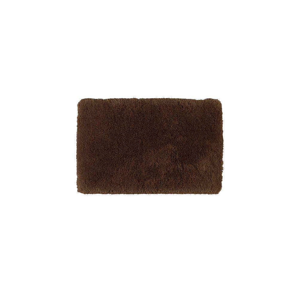 Shaw Living Sassy Shag Coffee 24 Inch x 40 Inch Bath Rug