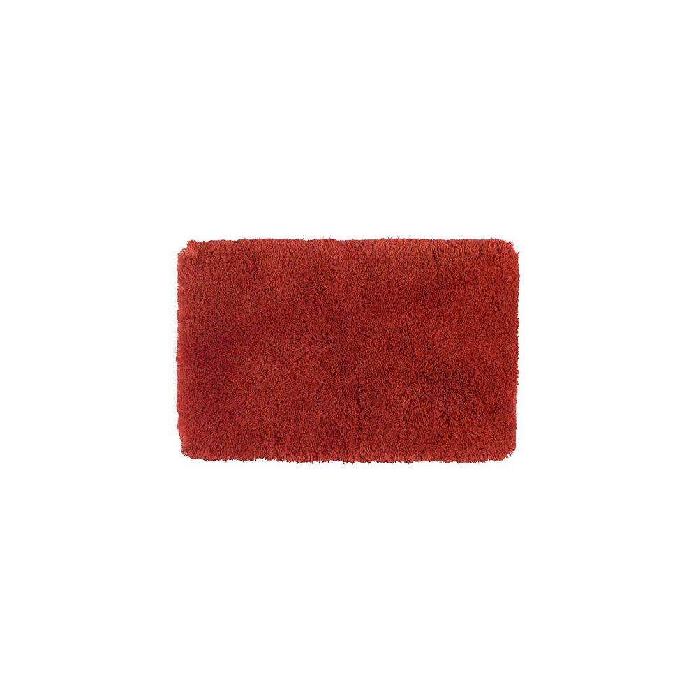 Shaw Living Sassy Shag Rust 17 Inch x 24 Inch Bath Rug
