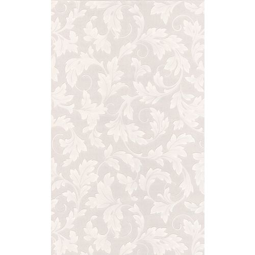 Large Scrolling Leaf Paintable Wallpaper Sample