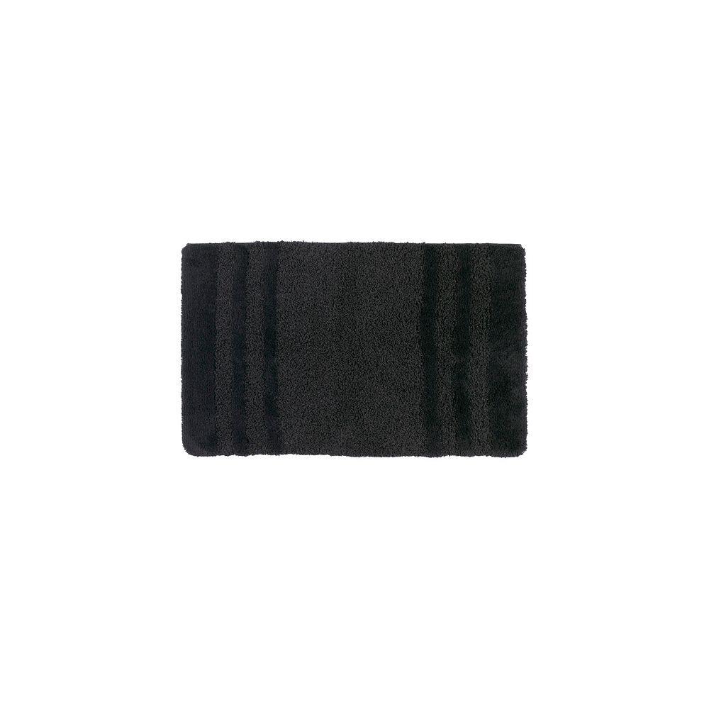 Shaw Living Penthouse Black 17 Inch x 24 Inch Bath Rug