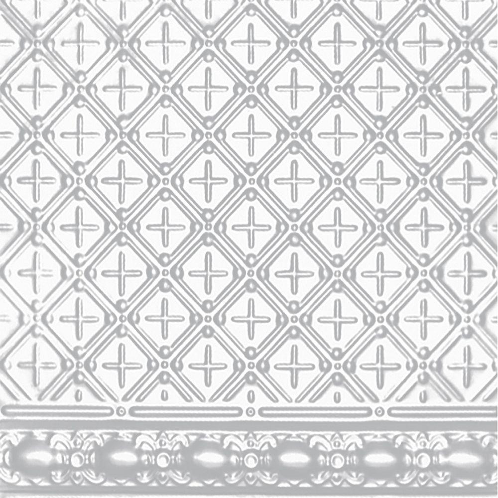 Shanko 2 Feet x 4 Feet White Finish Steel   Nail-Up Molded Filler w/ 4 inch Molding #804