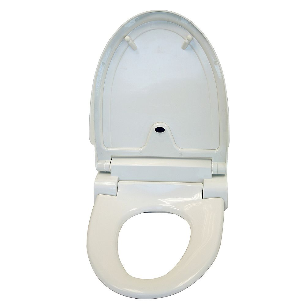 iTouchless Sensor Controlled Automatic Elongated Toilet Seat in White