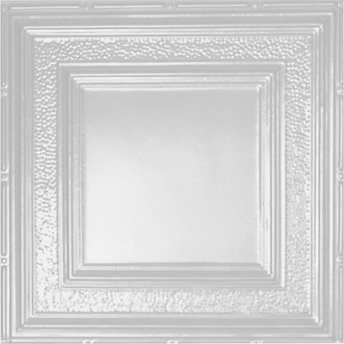 2 Feet x 4 Feet White Finish Steel Nail-Up Ceiling Tile Design Repeat Every 24 Inches
