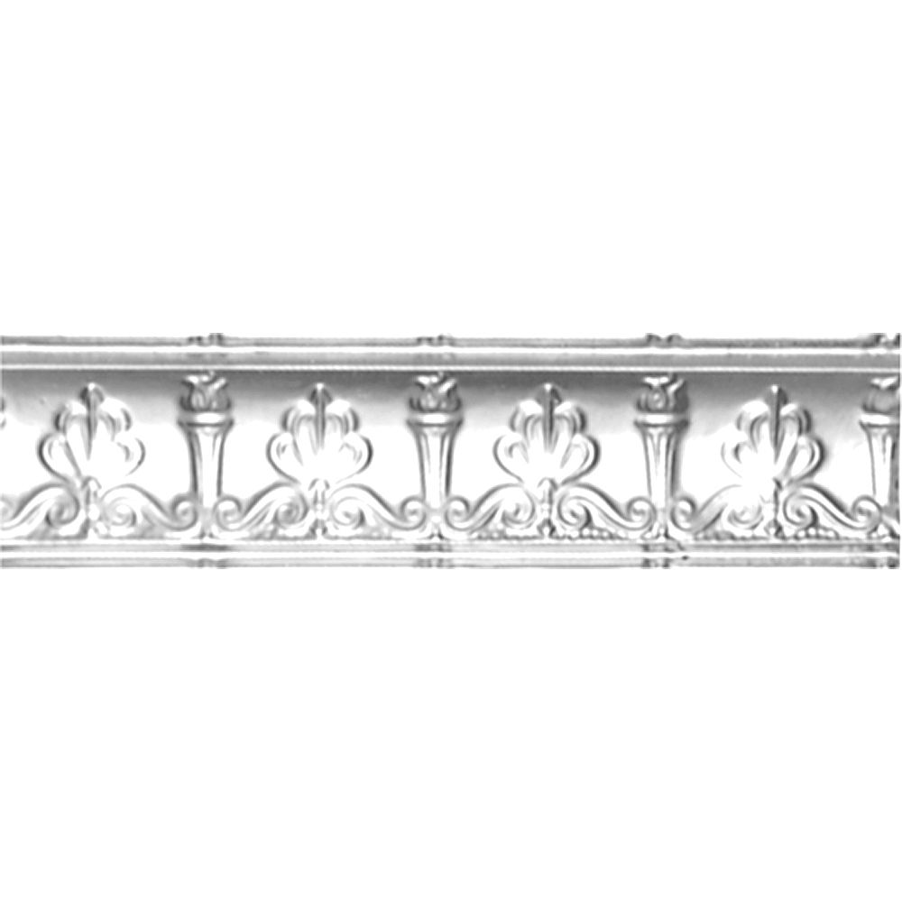 Shanko Chrome Plated Steel Cornice 4  Inches  Projection x 4  Inches  Deep x 4 Feet Long