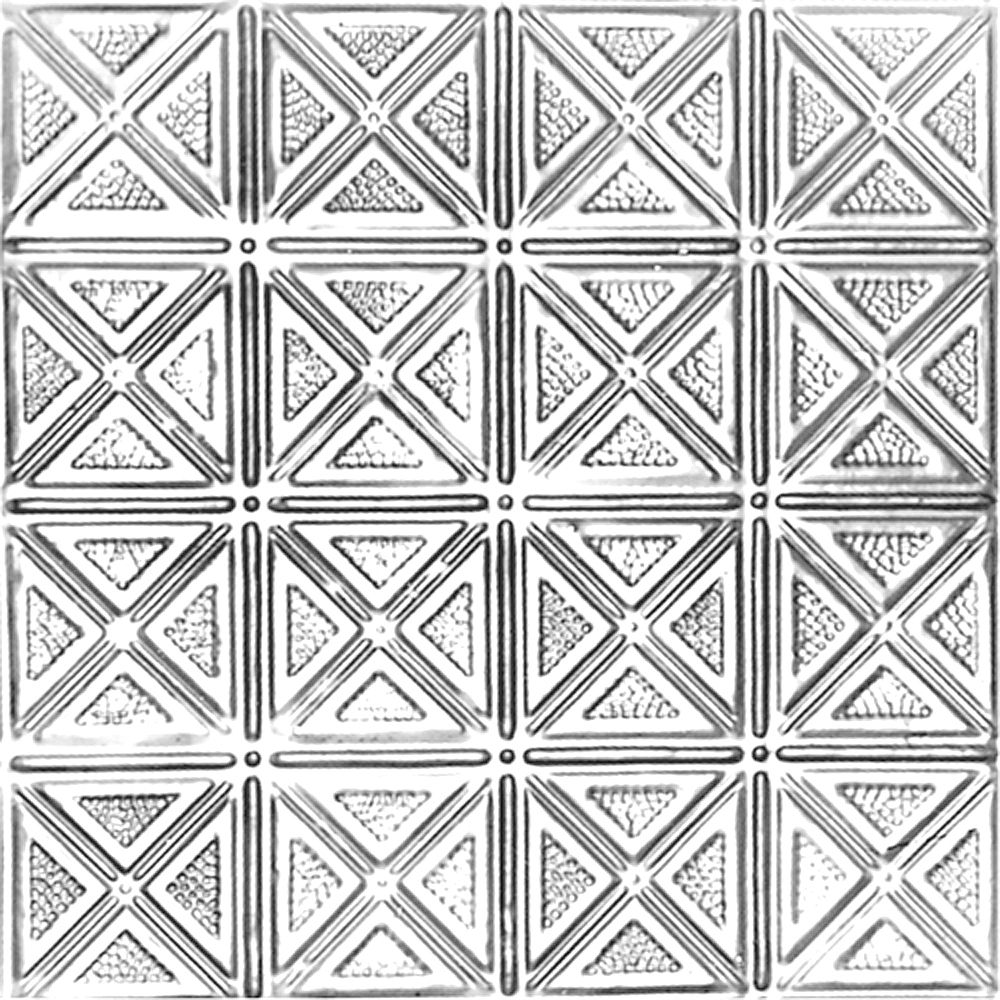Shanko 2 Feet x 4 Feet Lacquer Finish Steel Nail-Up Ceiling Tile Design Repeat Every 6 Inches