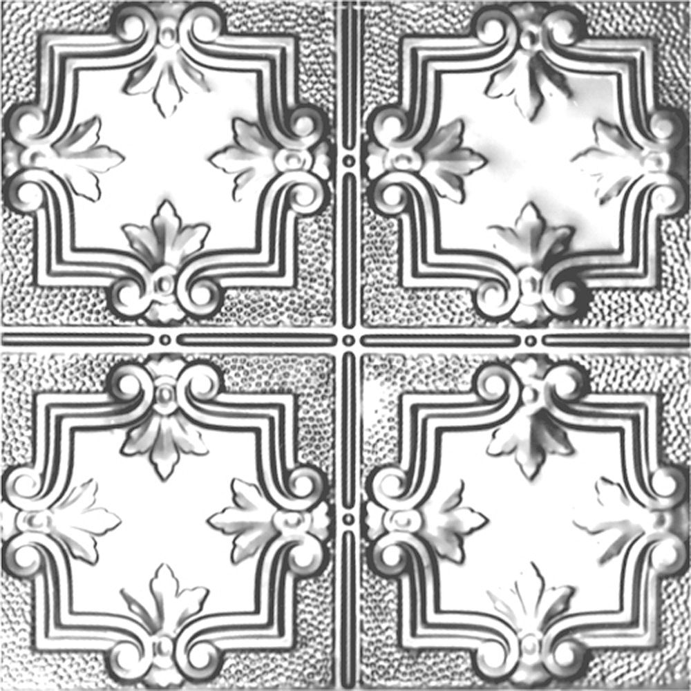 Shanko 2 Feet x 4 Feet Lacquer Finish Steel Nail-Up Ceiling Tile Design Repeat Every 12 Inches