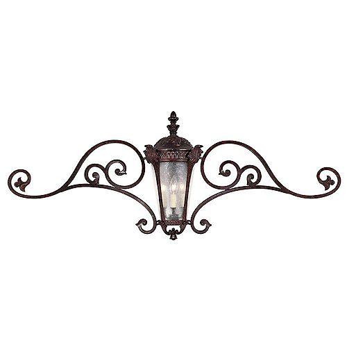 pilier monture lumière avec abat-jour blanc couleur en bronze