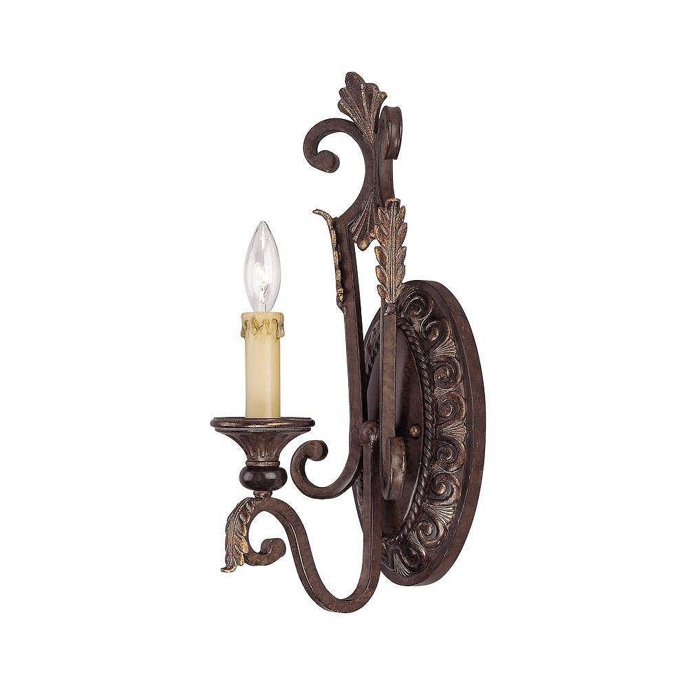 Illumine Satin 1 Light Bronze Incandescent Wall Sconce