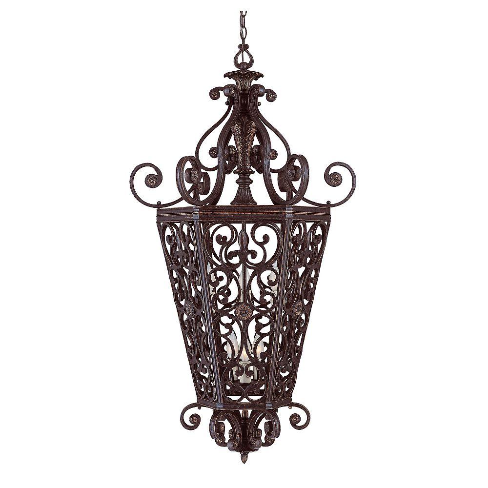 Illumine Satin 6 Light Bronze Incandescent Pendant
