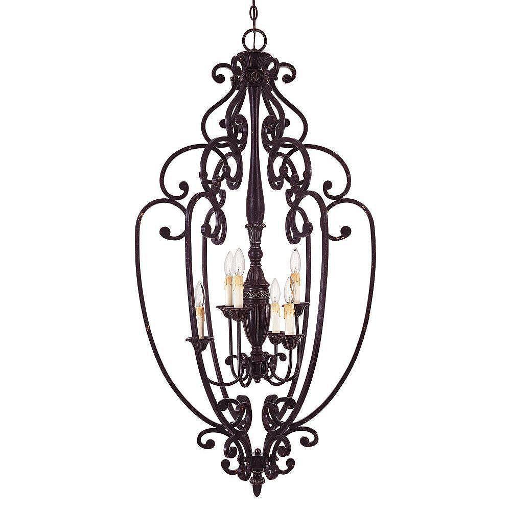 Illumine Satin 6-Light Bronze Pendant