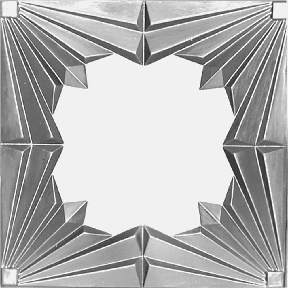 Shanko 2 Feet x 4 Feet Steel Silver Nail-Up Molded Filler w/ 3 inch Molding #909