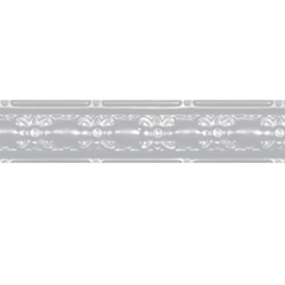 Shanko White Finish Steel Cornice 4  Inches  x 4 Feet Long