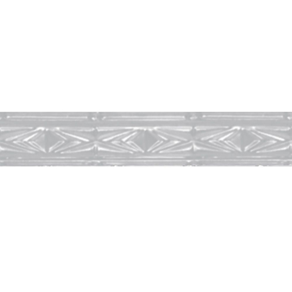 Shanko White Finish Steel Cornice 3  Inches  x 4 Feet Long