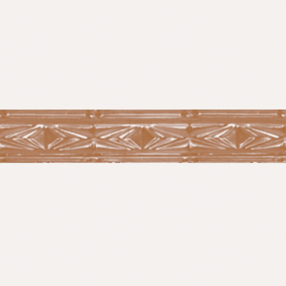 Shanko Copper Plated Steel Cornice 3 Inches X 4 Feet Long The Home Depot Canada