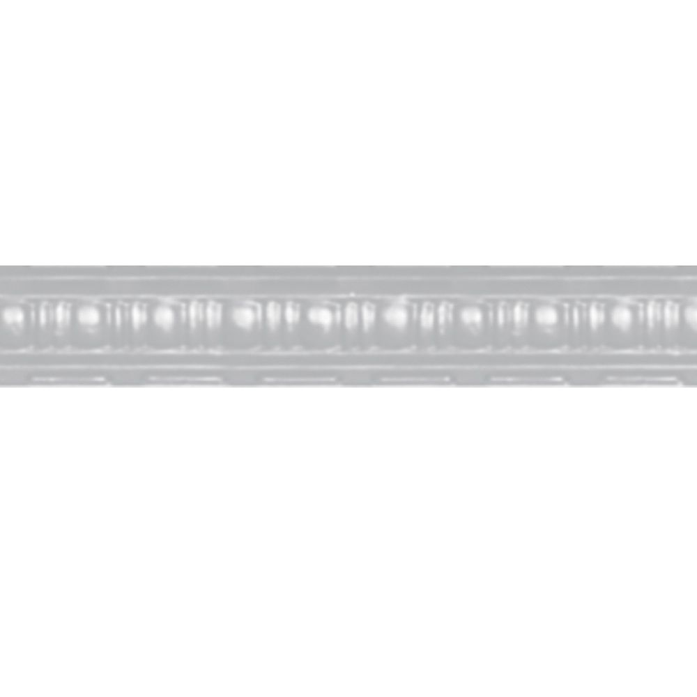 Shanko White Finish Steel Cornice 2.5  Inches  Projection x 2.5  Inches  Deep x 4 Feet Long