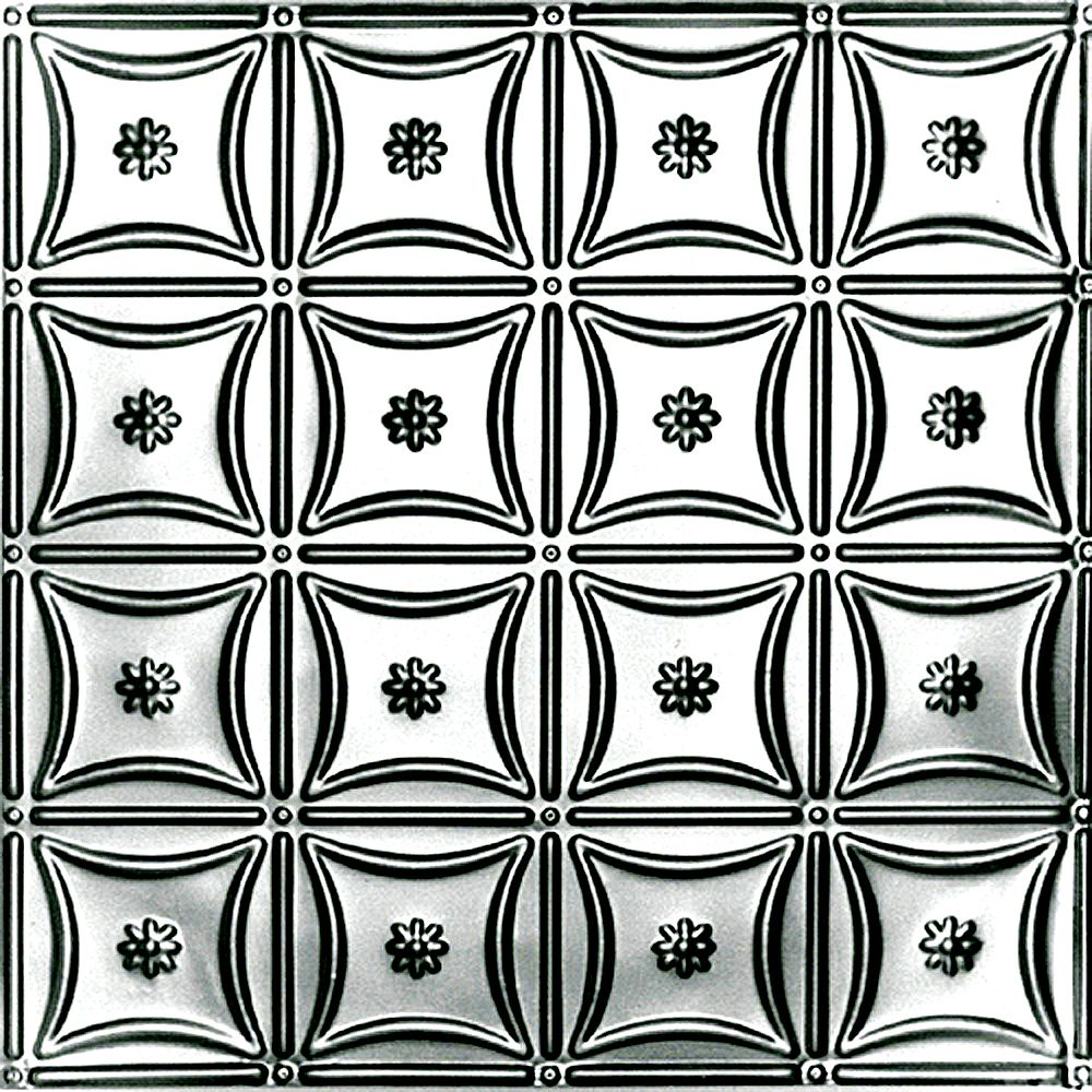 Shanko 2 Feet x 2 Feet Lacquer Finish Steel Lay-In Ceiling Tile Design Repeat Every 6 Inches