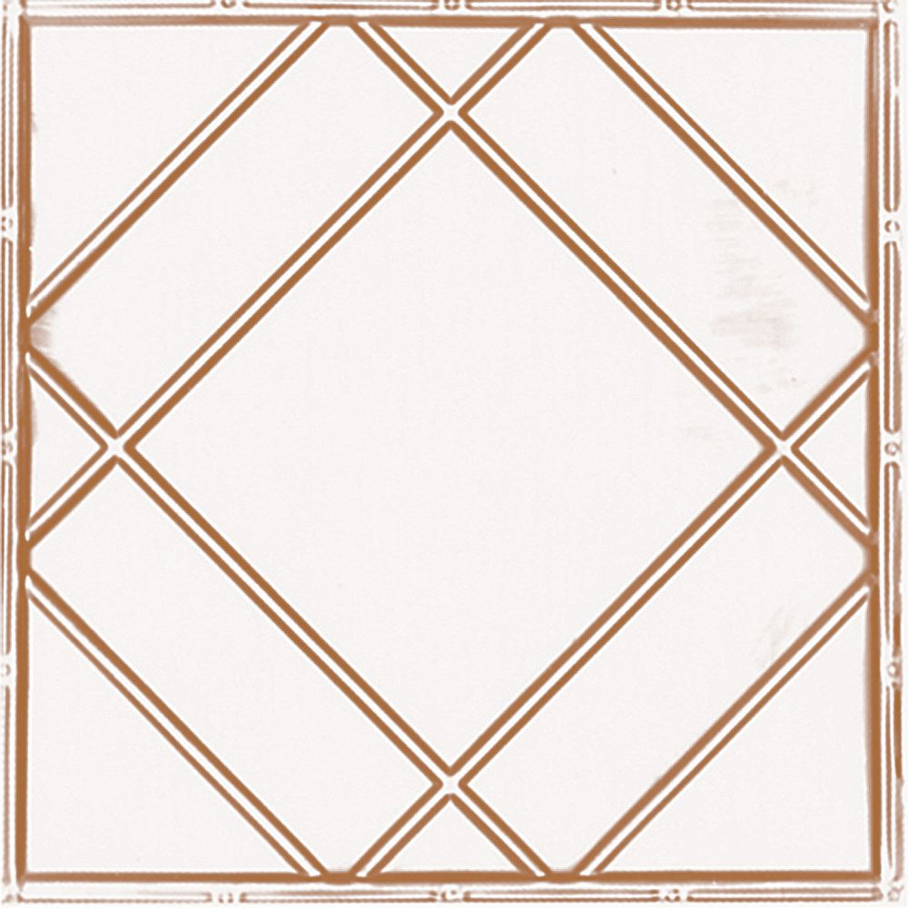 Shanko 2 Feet x 4 Feet Copper Plated Steel Finish   Nail-Up Ceiling Tile Design Repeat Every 24 Inches