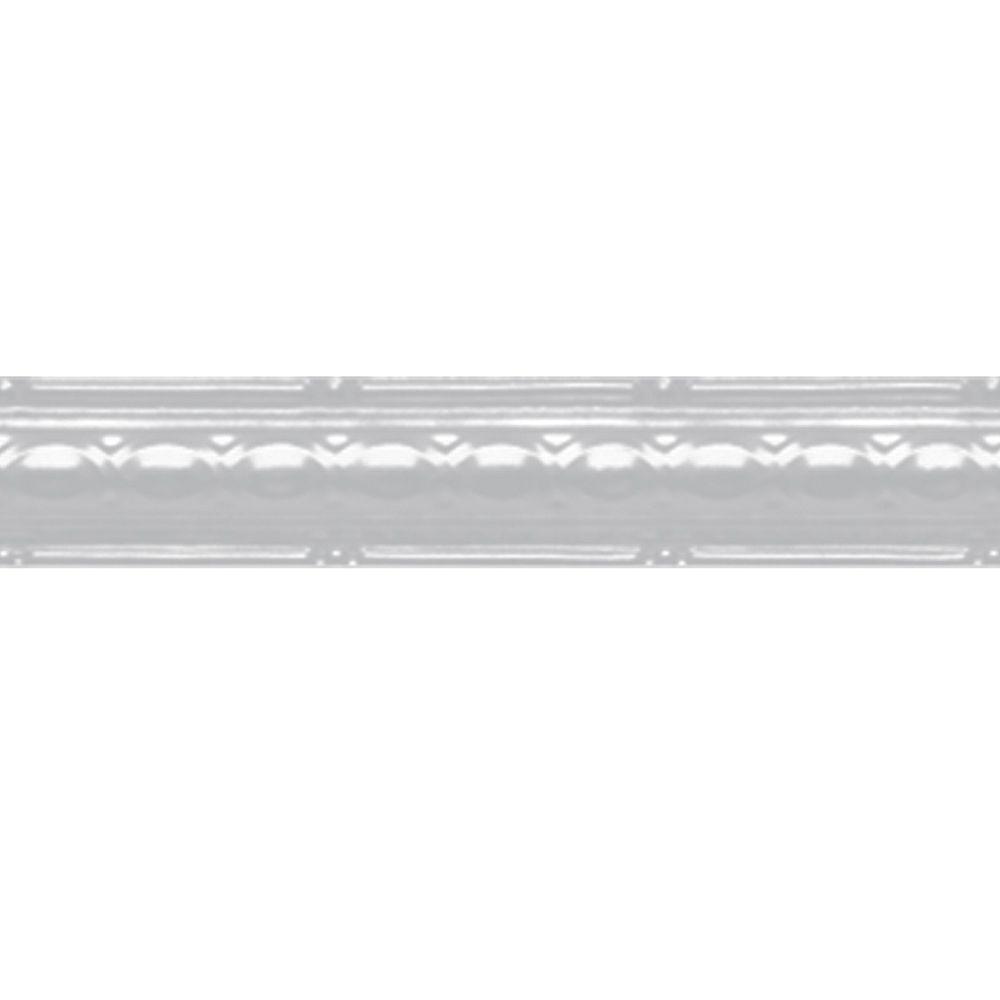 Shanko White Finish Steel Cornice 2.5  Inches  x 4 Feet Long