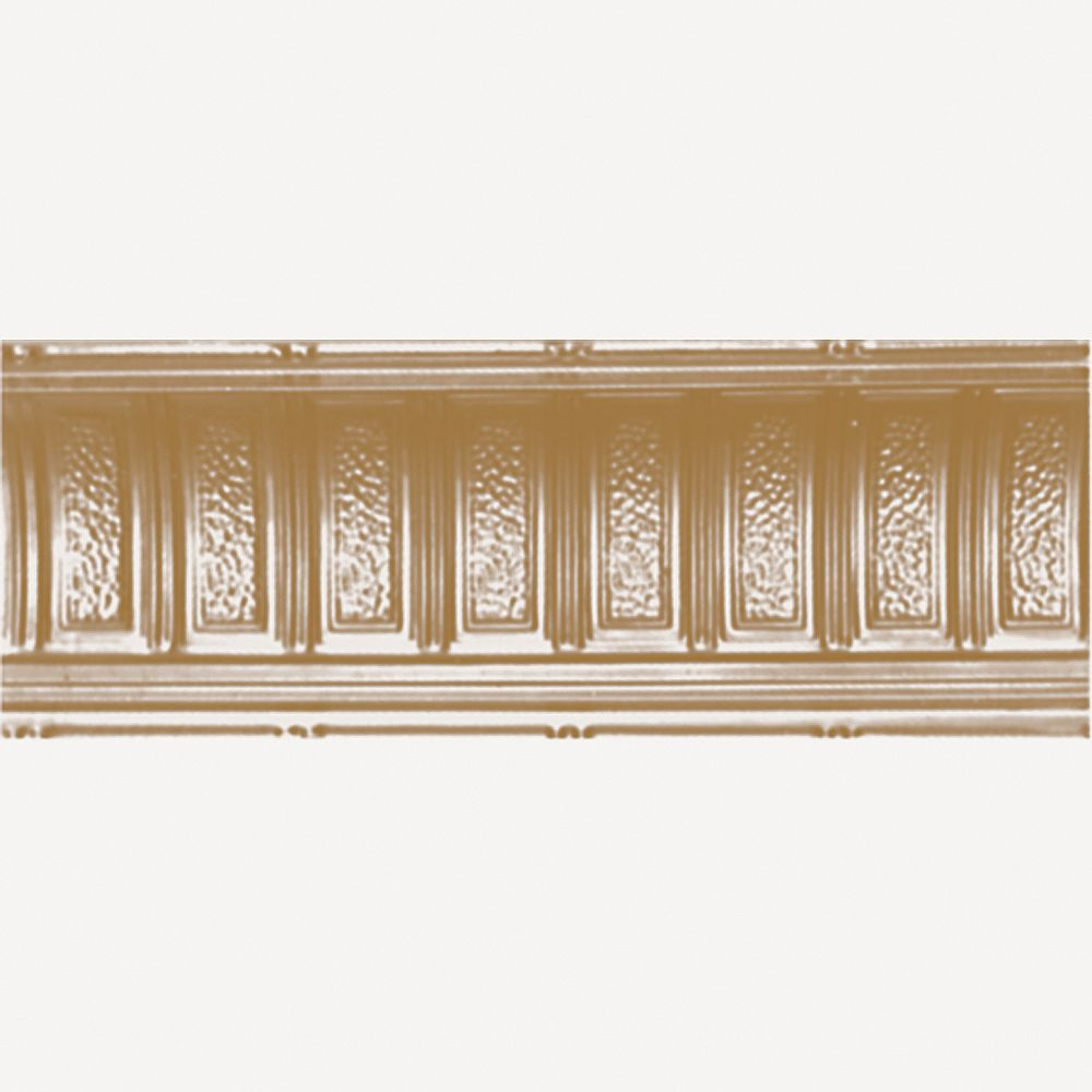 Shanko Brass Plated Steel Cornice 6  Inches  Projection x 6  Inches  Deep x 4 Feet Long