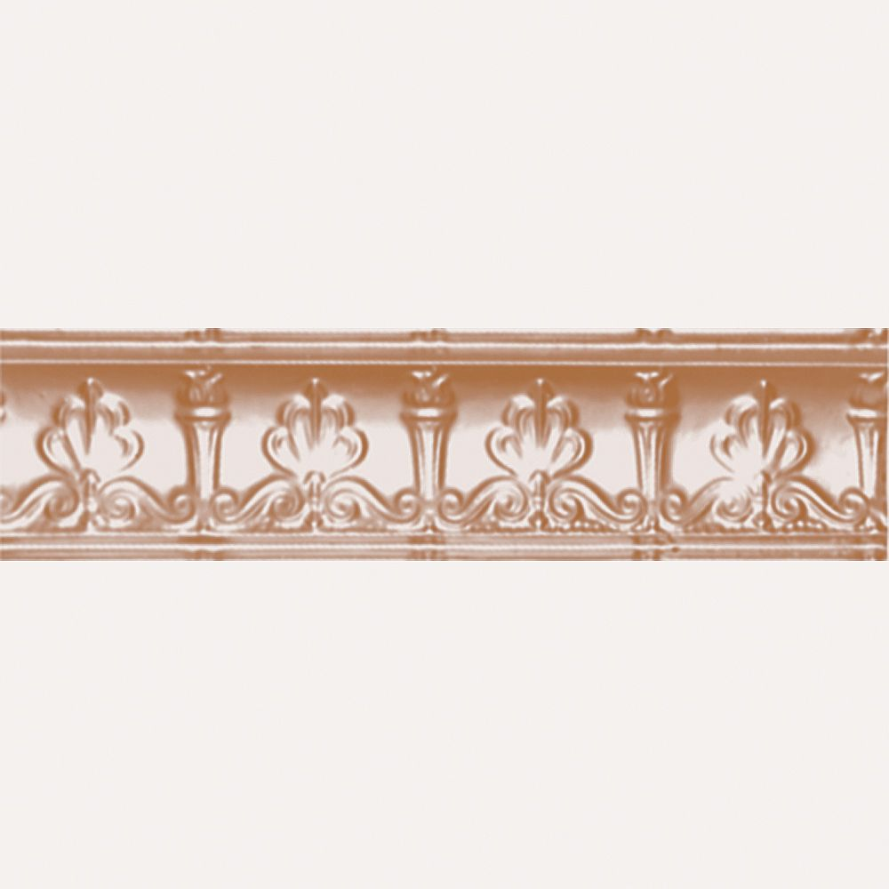 Shanko Copper Plated Steel Cornice 4  Inches  Projection x 4  Inches  Deep x 4 Feet Long