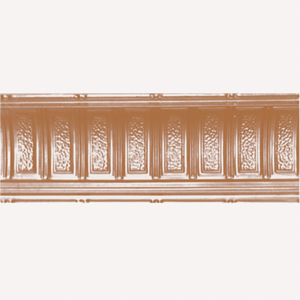 Shanko Copper Plated Steel Cornice 6  Inches  Projection x 6  Inches  Deep x 4 Feet Long