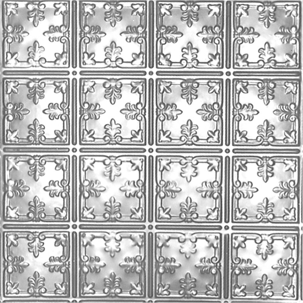 Shanko 2 ft. x 4 ft. Lacquer Finish Steel Nail-Up Ceiling Tile