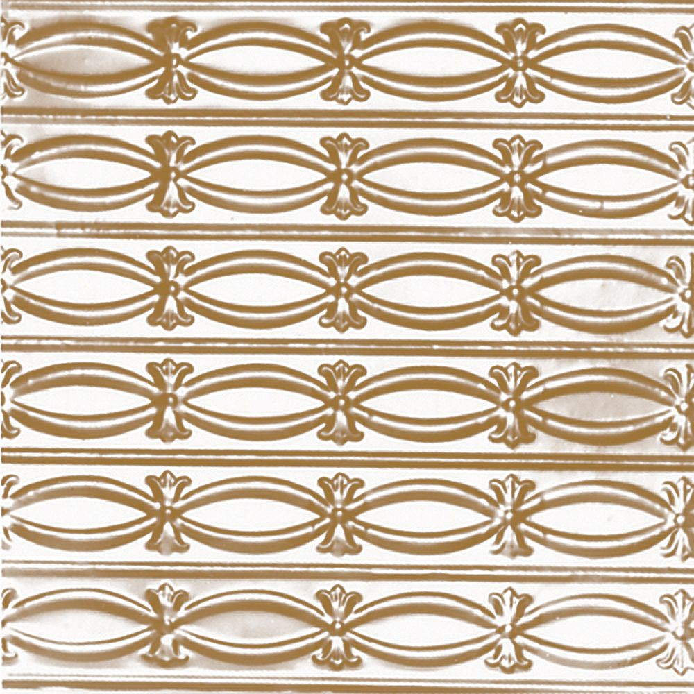 Shanko 2 Feet x 4 Feet Brass Plated Steel Nail-Up Ceiling Tile Beaded Plate