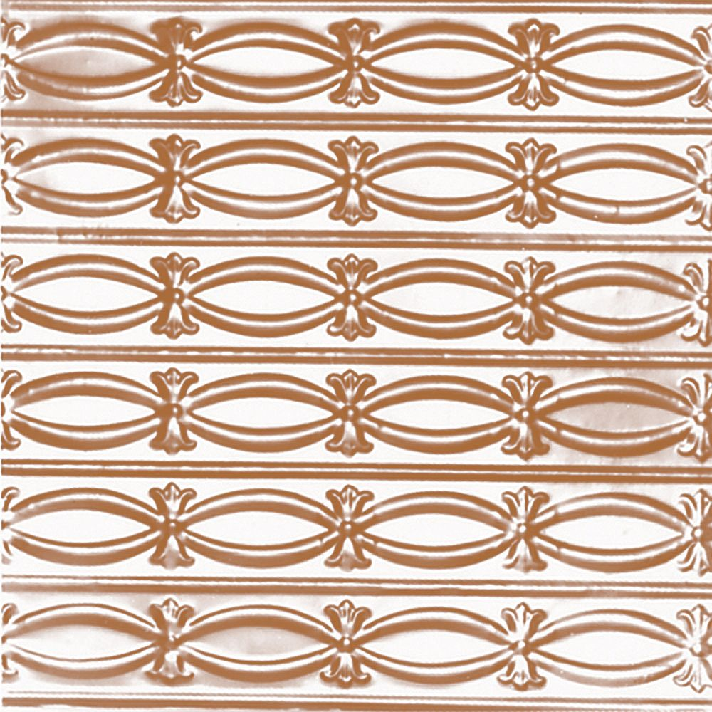 Shanko 2 Feet x 4 Feet Copper Plated Steel Nail-Up Ceiling Tile Beaded Plate