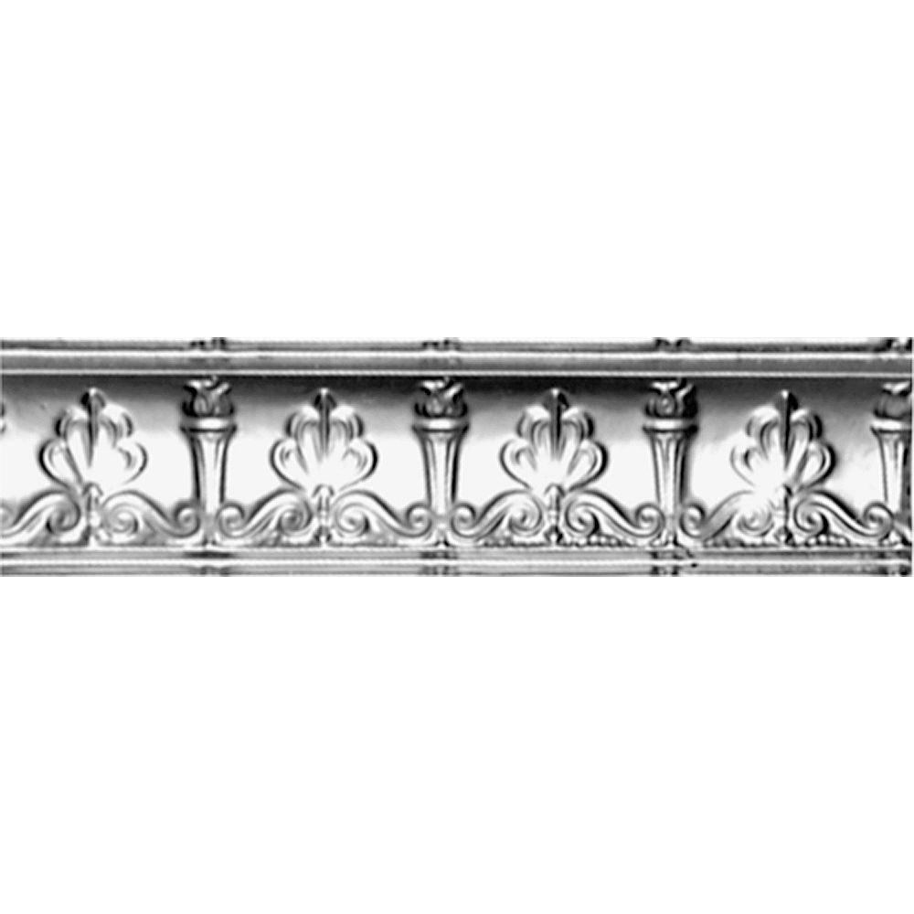Shanko Lacquer Finish Steel Cornice 4  Inches  Projection x 4  Inches  Deep x 4 Feet Long