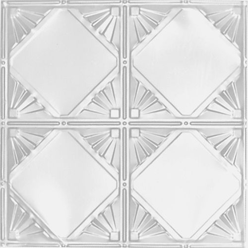 2 ft. x 4 ft. White Finish Steel Nail-Up Ceiling Tile