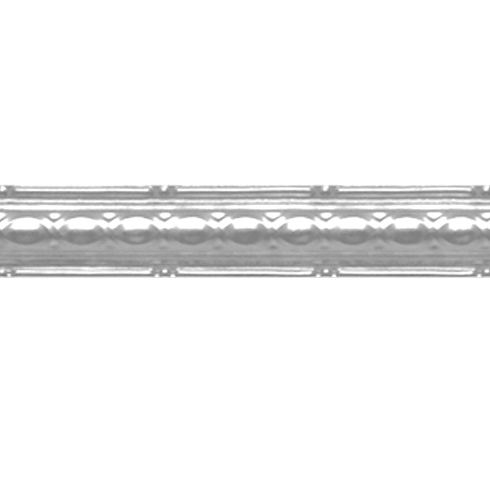 Shanko Chrome Plated Steel Cornice 2.5  Inches  x 4 Feet Long